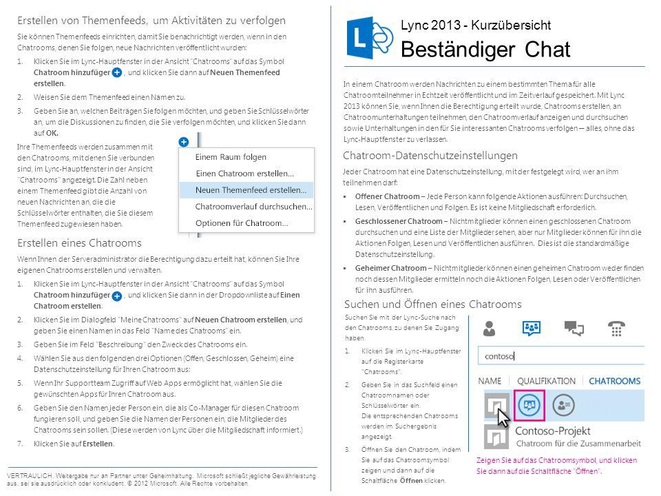Beständiger Chat Lync 2013 - Kurzübersicht
