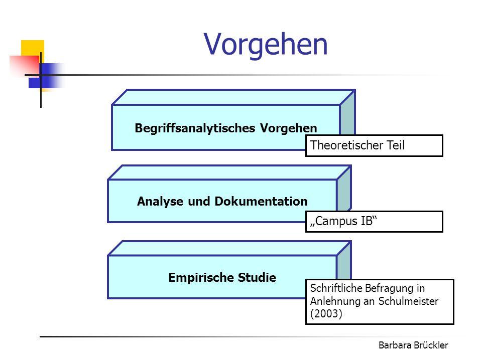 Begriffsanalytisches Vorgehen Analyse und Dokumentation