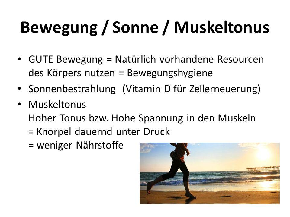 Bewegung / Sonne / Muskeltonus
