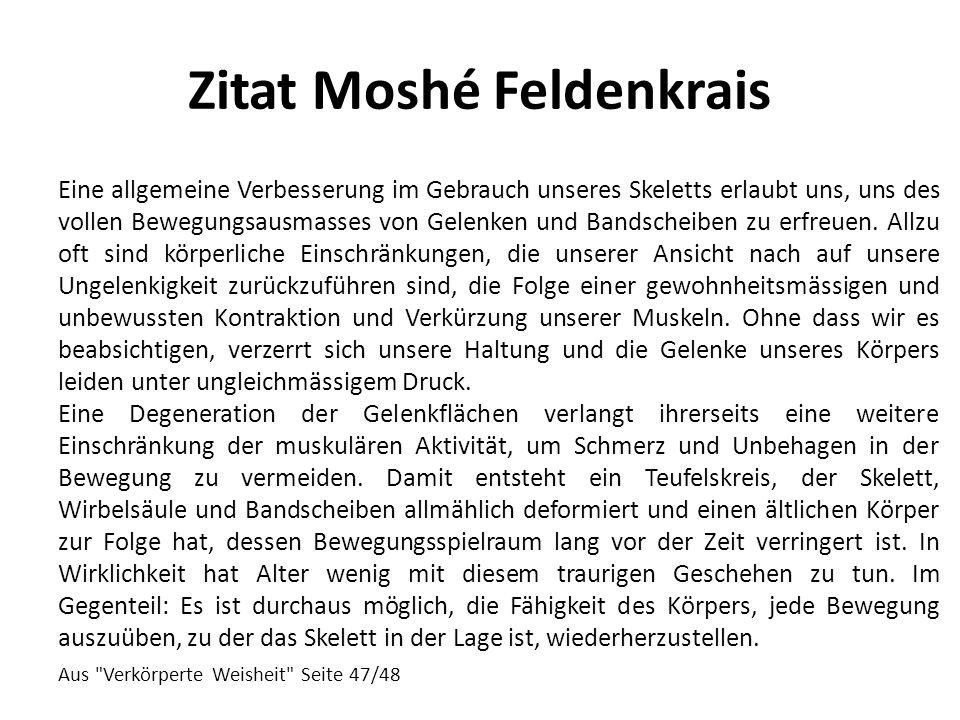 Zitat Moshé Feldenkrais