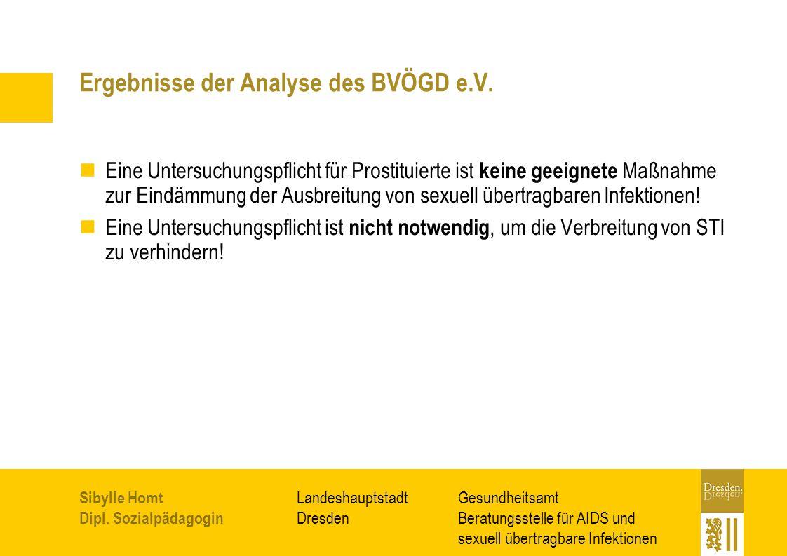 Ergebnisse der Analyse des BVÖGD e.V.