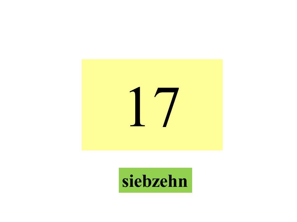 17 siebzehn