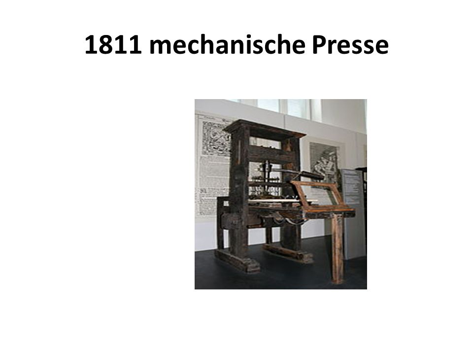 1811 mechanische Presse