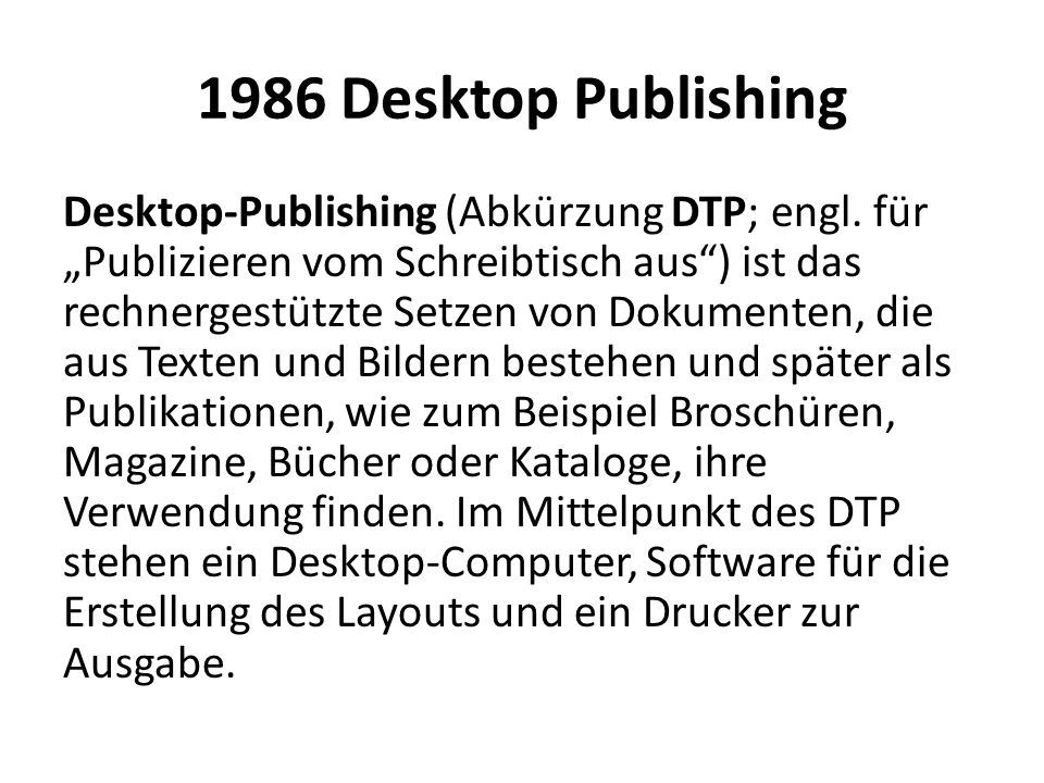 1986 Desktop Publishing