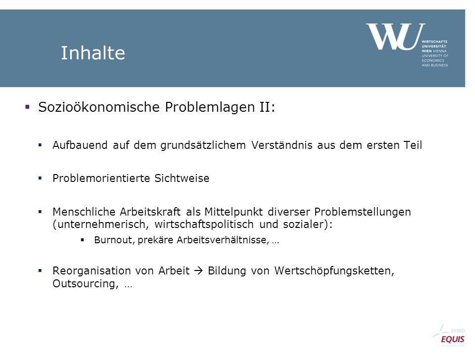 Inhalte Sozioökonomische Problemlagen II: