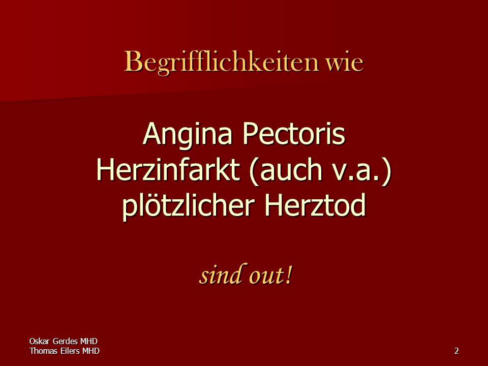 Begrifflichkeiten wie Angina Pectoris Herzinfarkt (auch v. a