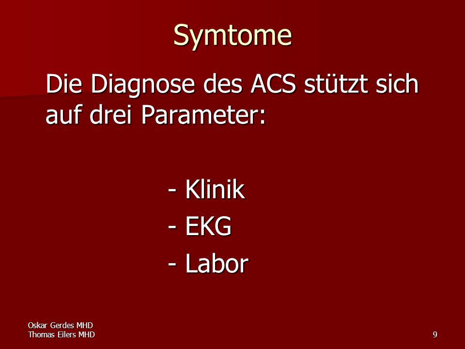 Symtome - Klinik - EKG - Labor