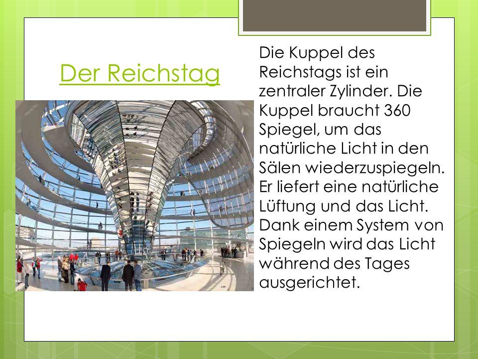 Die Kuppel des Reichstags ist ein zentraler Zylinder