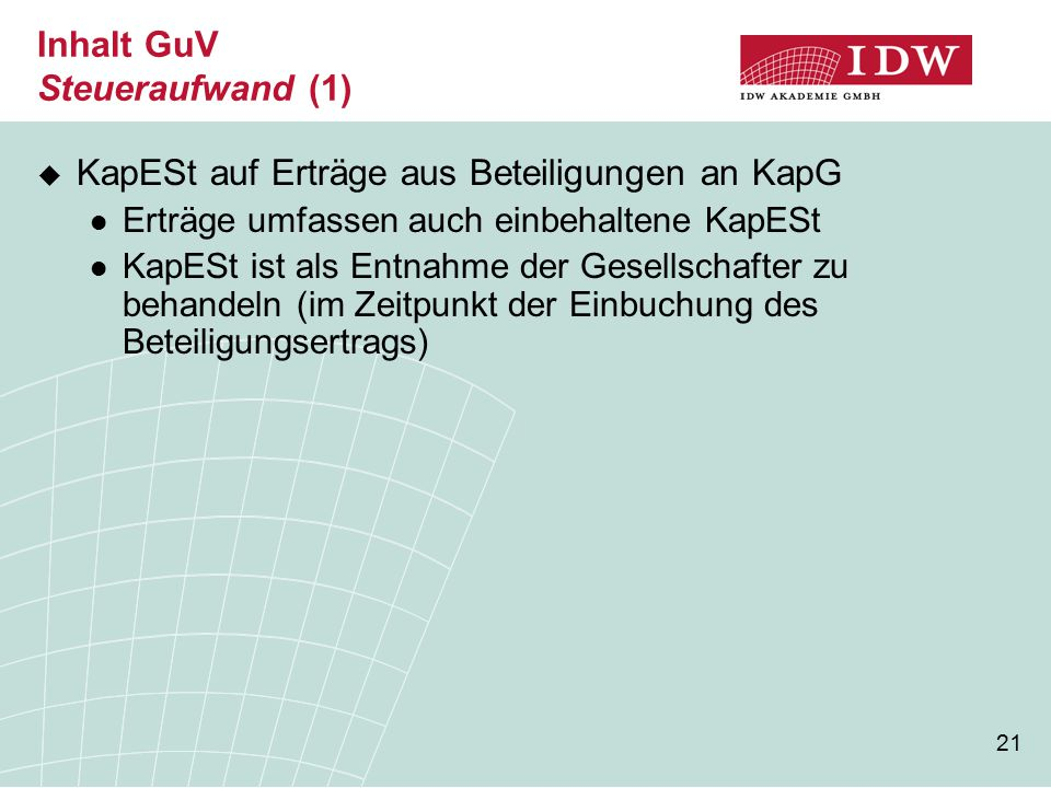 Inhalt GuV Steueraufwand (1)