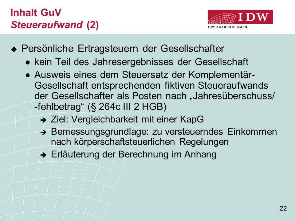 Inhalt GuV Steueraufwand (2)