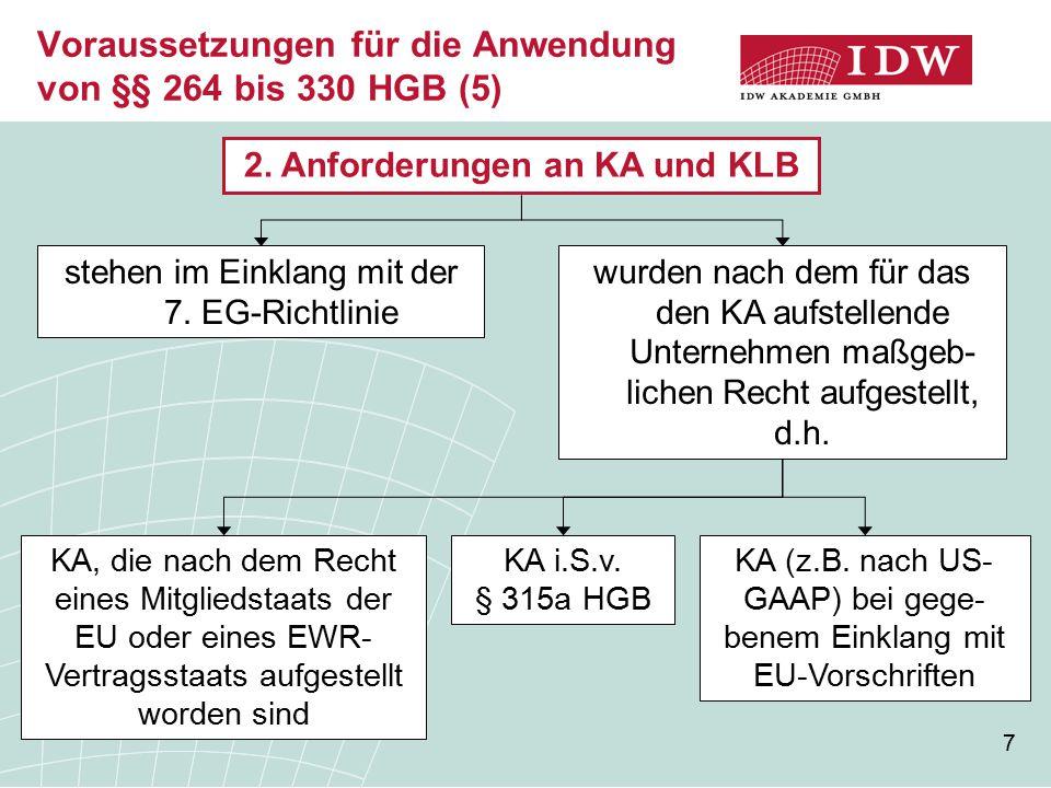 Voraussetzungen für die Anwendung von §§ 264 bis 330 HGB (5)