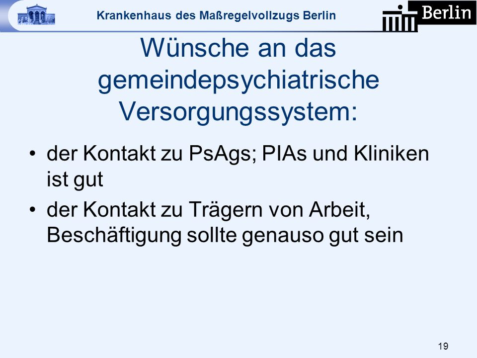 Wünsche an das gemeindepsychiatrische Versorgungssystem: