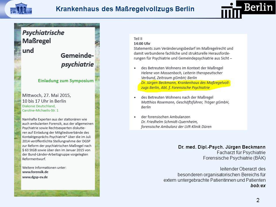 Dr. med. Dipl.-Psych. Jürgen Beckmann