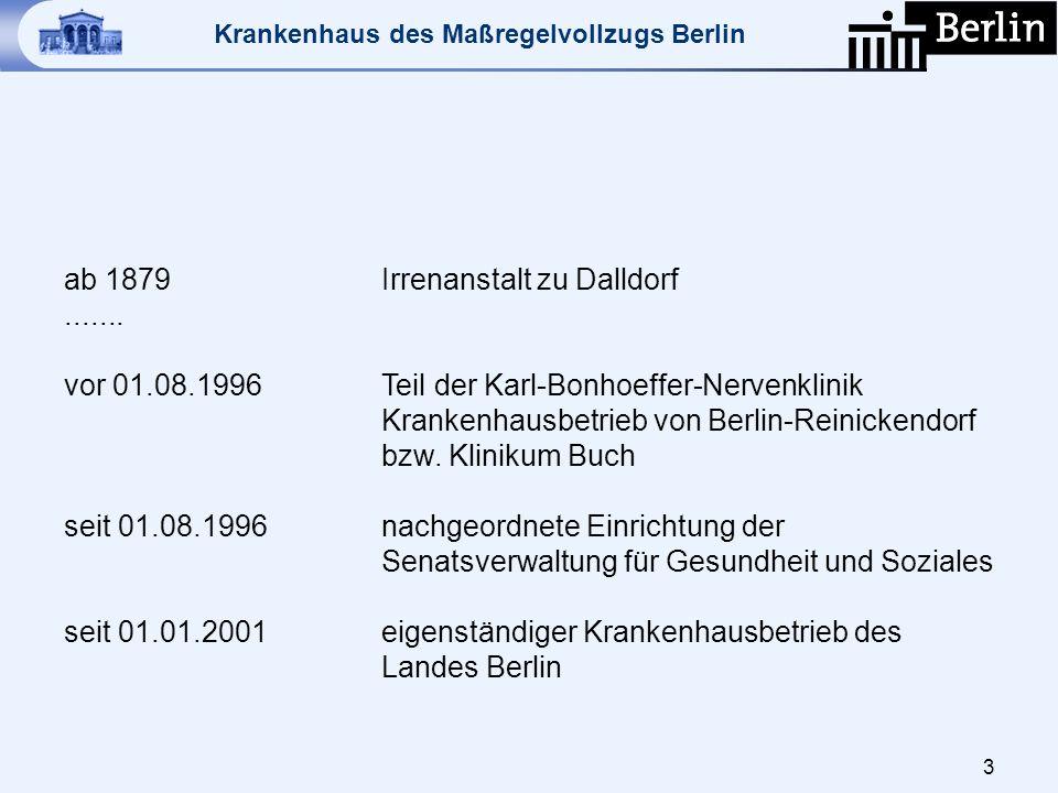 ab 1879 Irrenanstalt zu Dalldorf. vor 01. 08