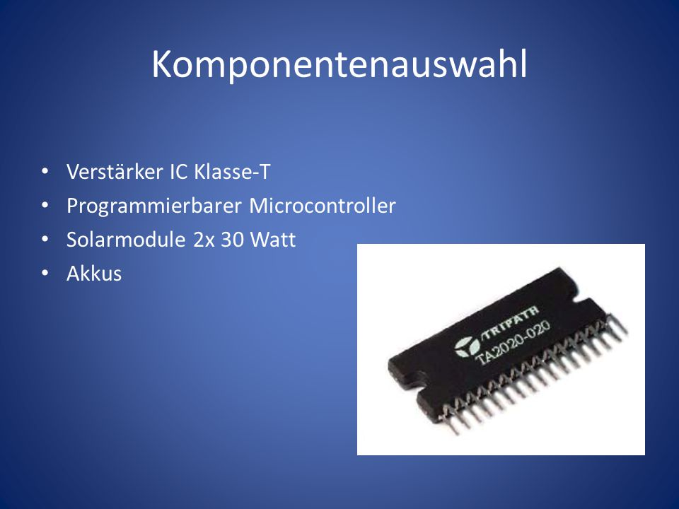 Komponentenauswahl Verstärker IC Klasse-T