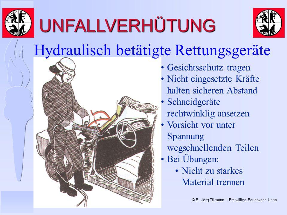 UNFALLVERHÜTUNG Hydraulisch betätigte Rettungsgeräte