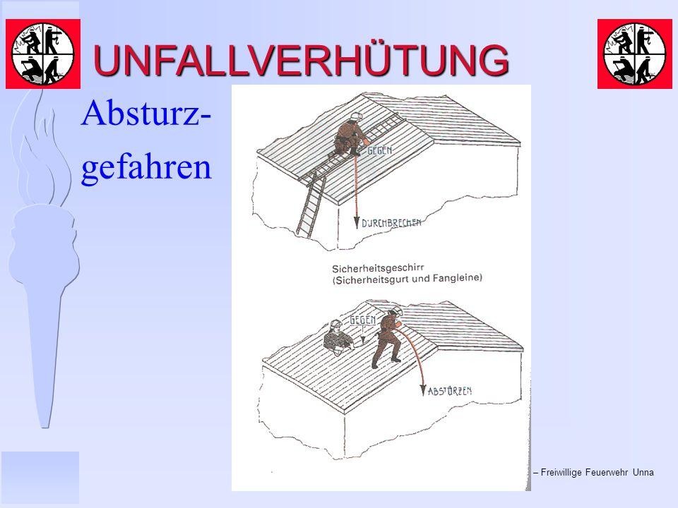 UNFALLVERHÜTUNG Absturz- gefahren
