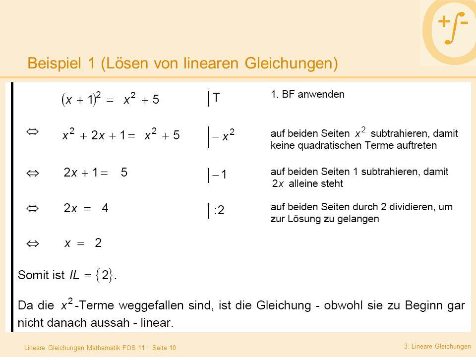 Beispiel 1 (Lösen von linearen Gleichungen)