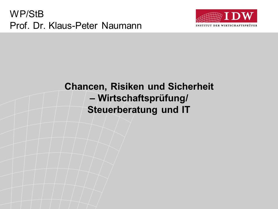 WP/StB Prof. Dr. Klaus-Peter Naumann