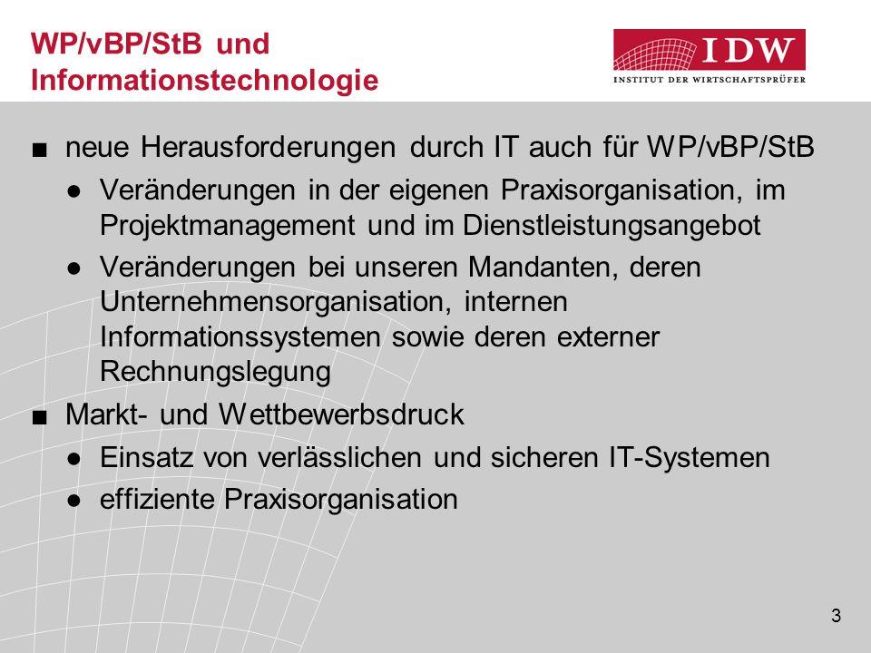 WP/vBP/StB und Informationstechnologie