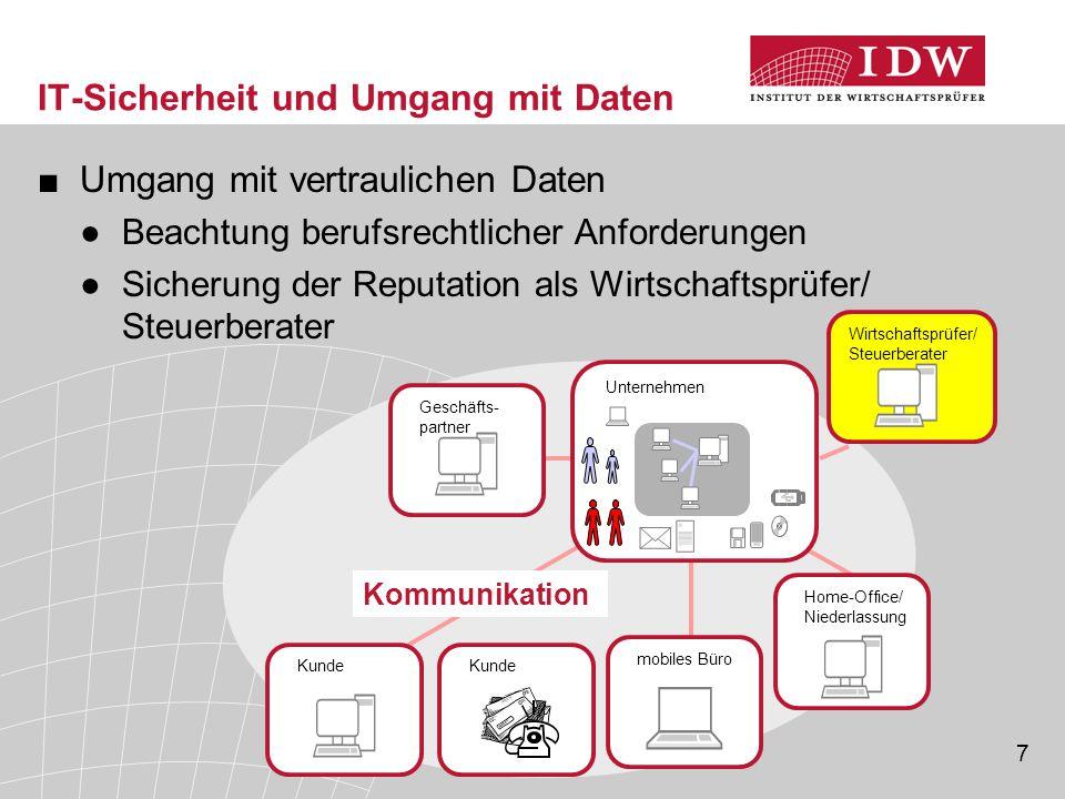 IT-Sicherheit und Umgang mit Daten