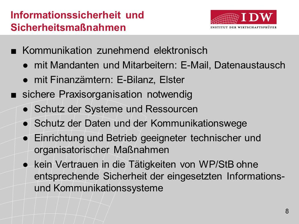 Informationssicherheit und Sicherheitsmaßnahmen