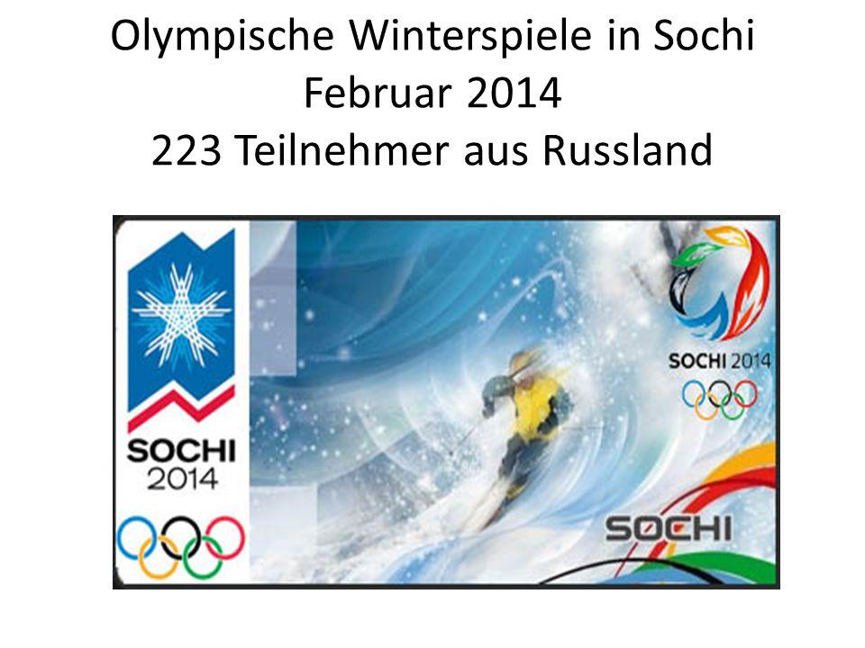 Olympische Winterspiele in Sochi Februar 2014 223 Teilnehmer aus Russland