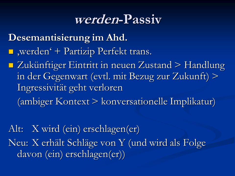 werden-Passiv Desemantisierung im Ahd.