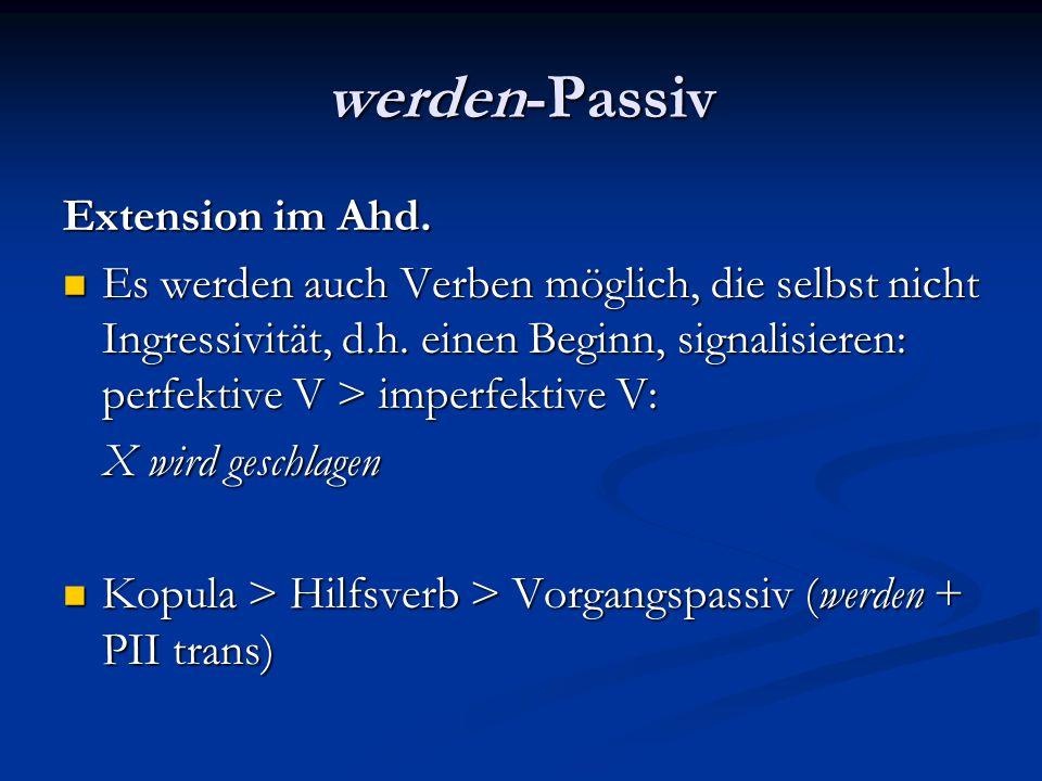 werden-Passiv Extension im Ahd.