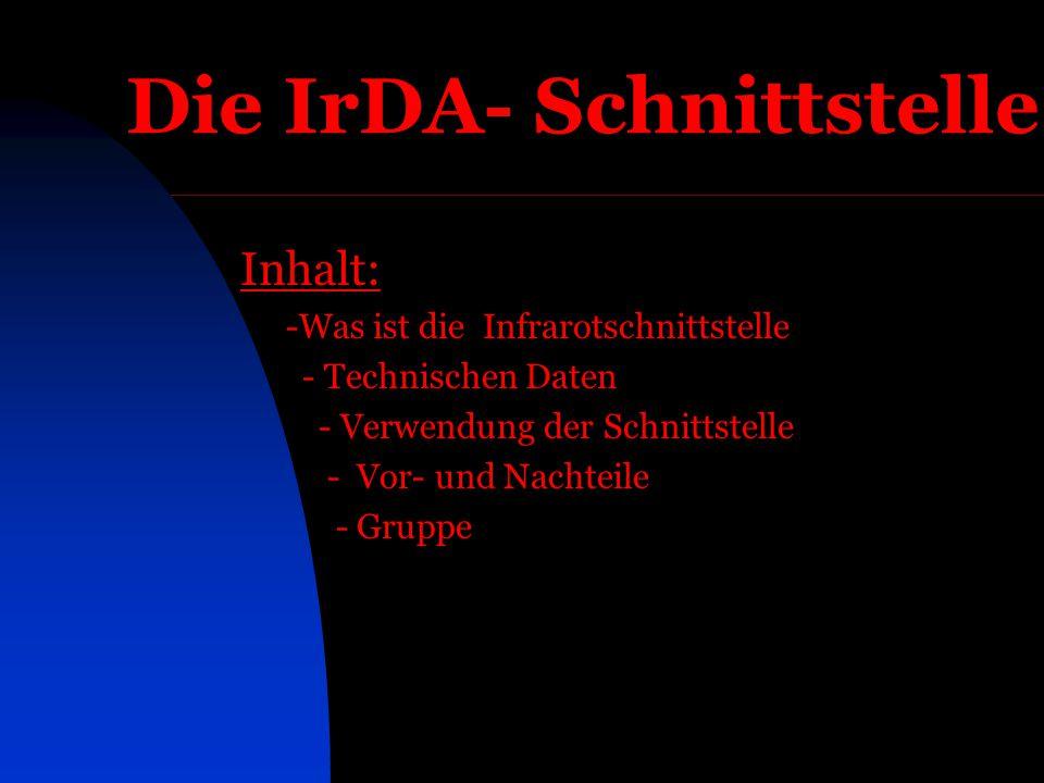 Die IrDA- Schnittstelle