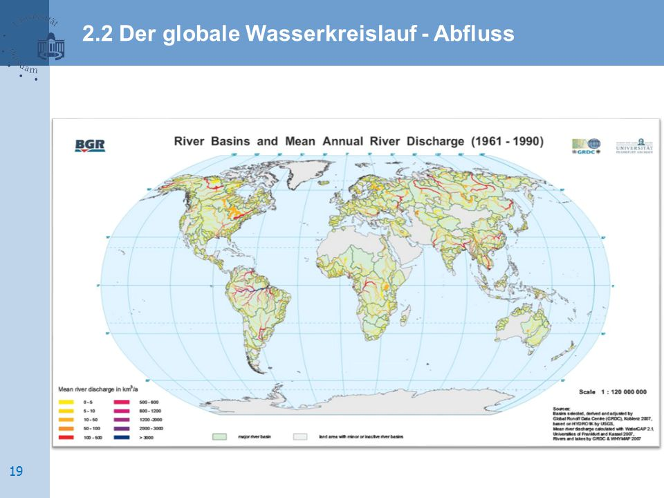 2.2 Der globale Wasserkreislauf - Abfluss