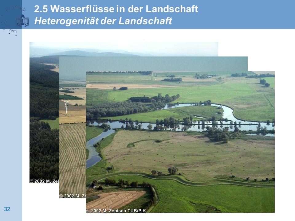 2.5 Wasserflüsse in der Landschaft