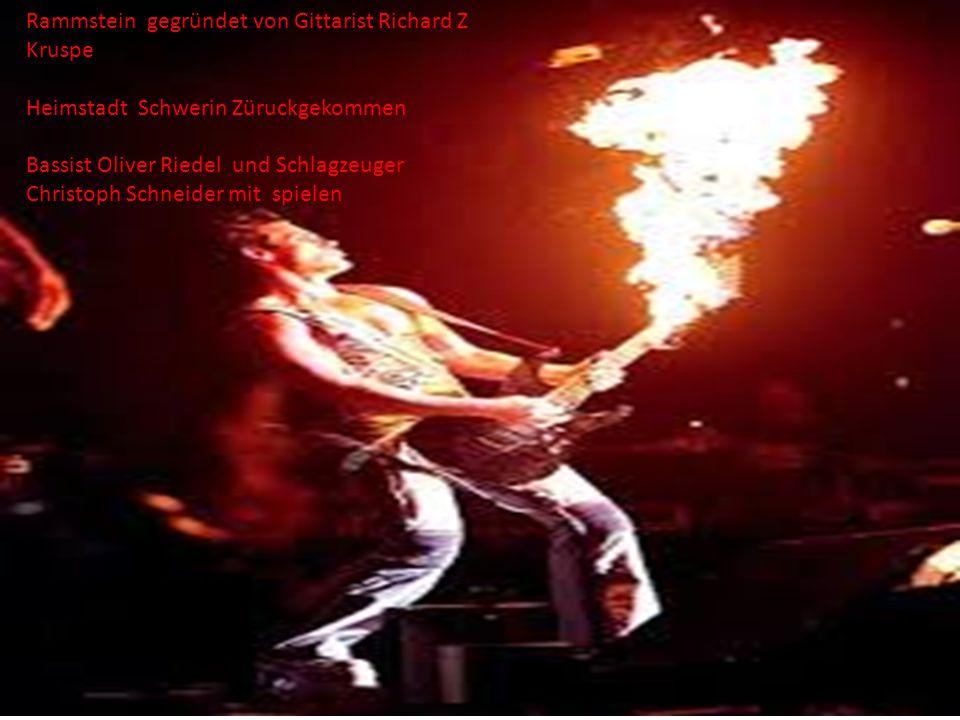 gegründet Rammstein gegründet von Gittarist Richard Z Kruspe
