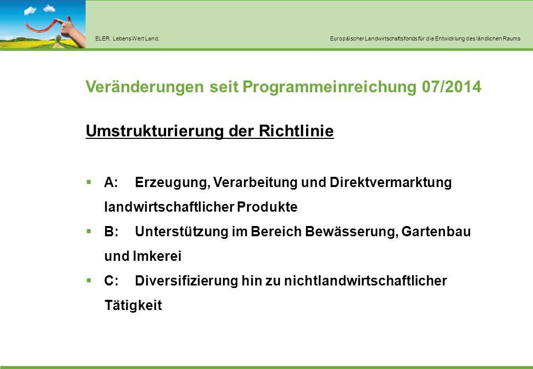 A: Erzeugung, Verarbeitung und Direktvermarktung landwirtschaftlicher Produkte