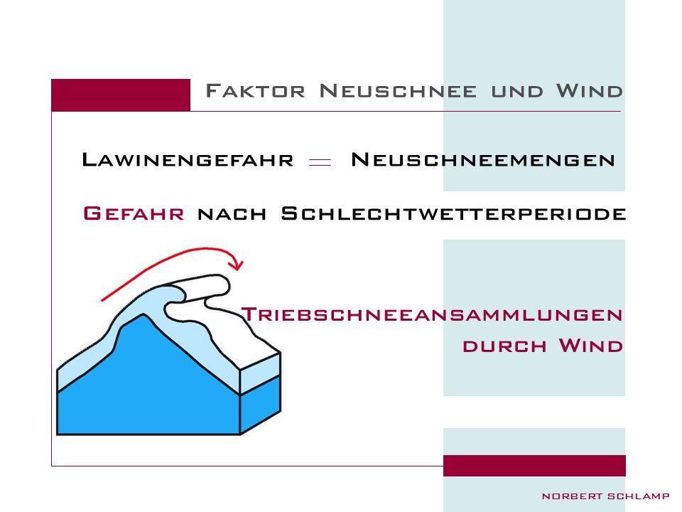 Faktor Neuschnee und Wind