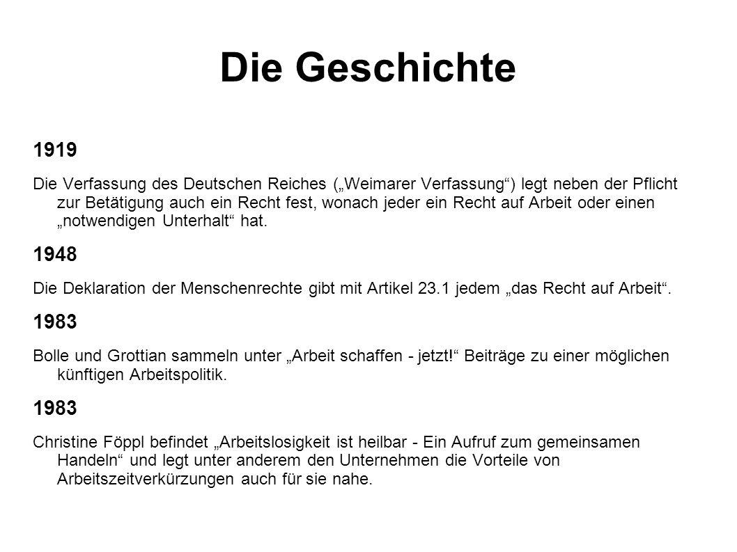 Die Geschichte 1919.