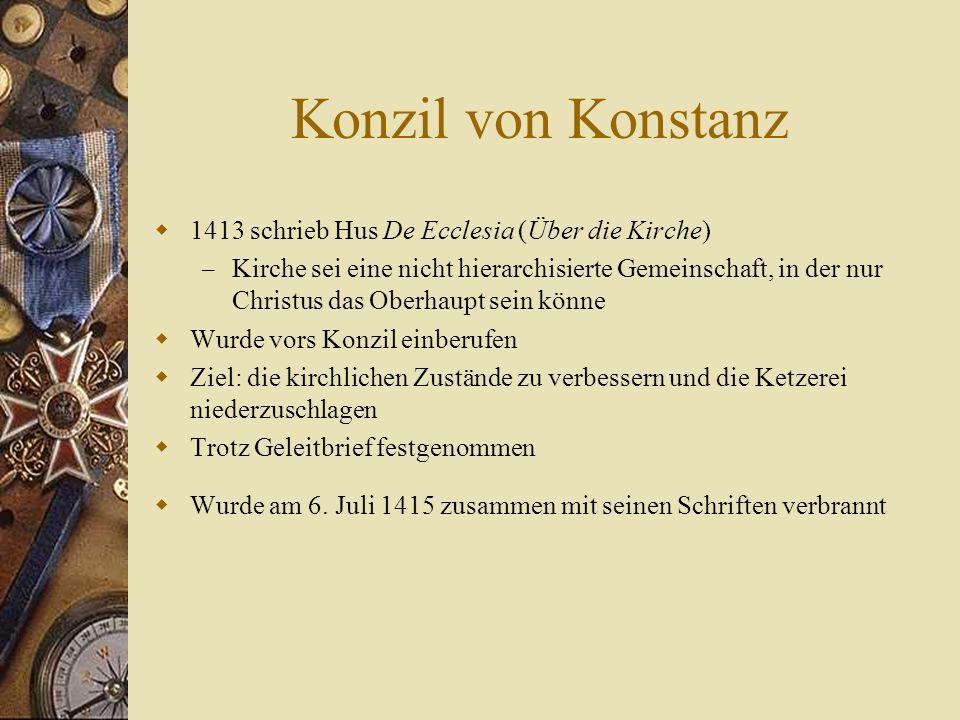 Konzil von Konstanz 1413 schrieb Hus De Ecclesia (Über die Kirche)