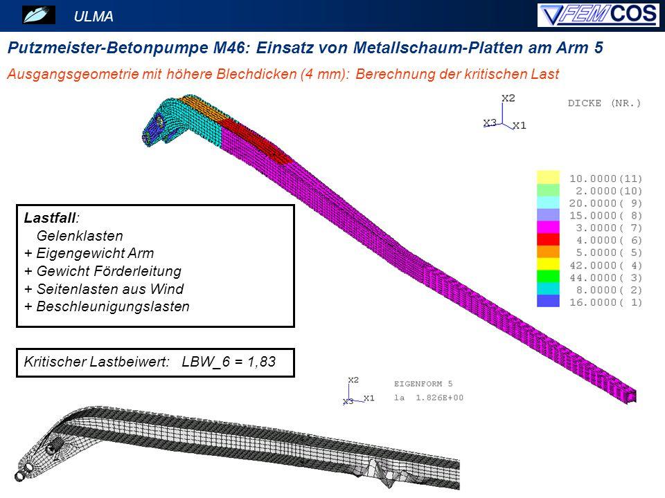 Putzmeister-Betonpumpe M46: Einsatz von Metallschaum-Platten am Arm 5
