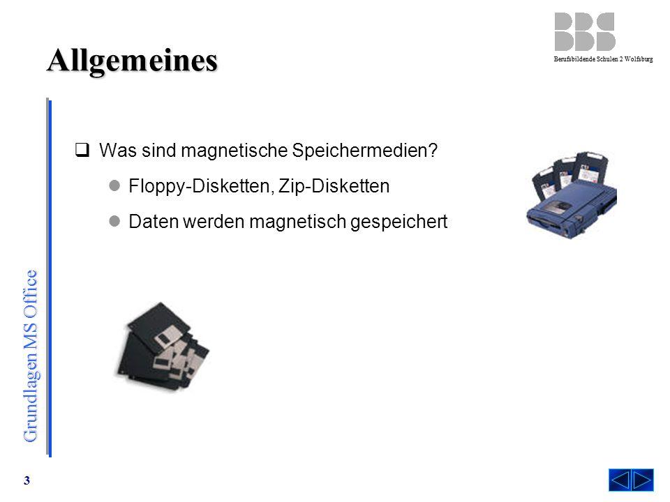 Allgemeines Was sind magnetische Speichermedien