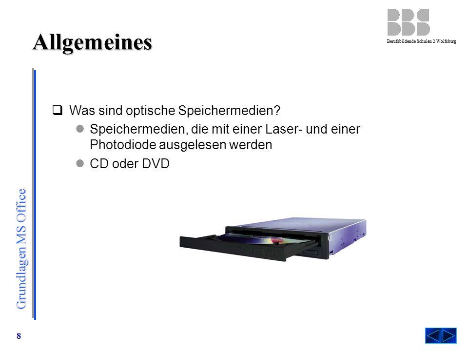 Allgemeines Was sind optische Speichermedien