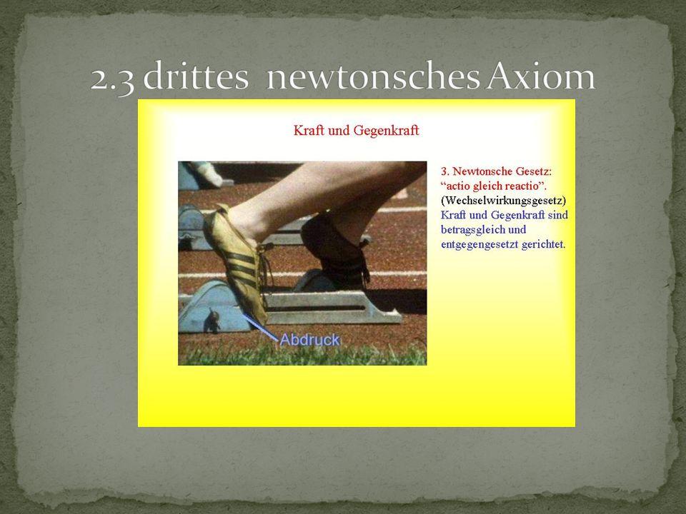2.3 drittes newtonsches Axiom