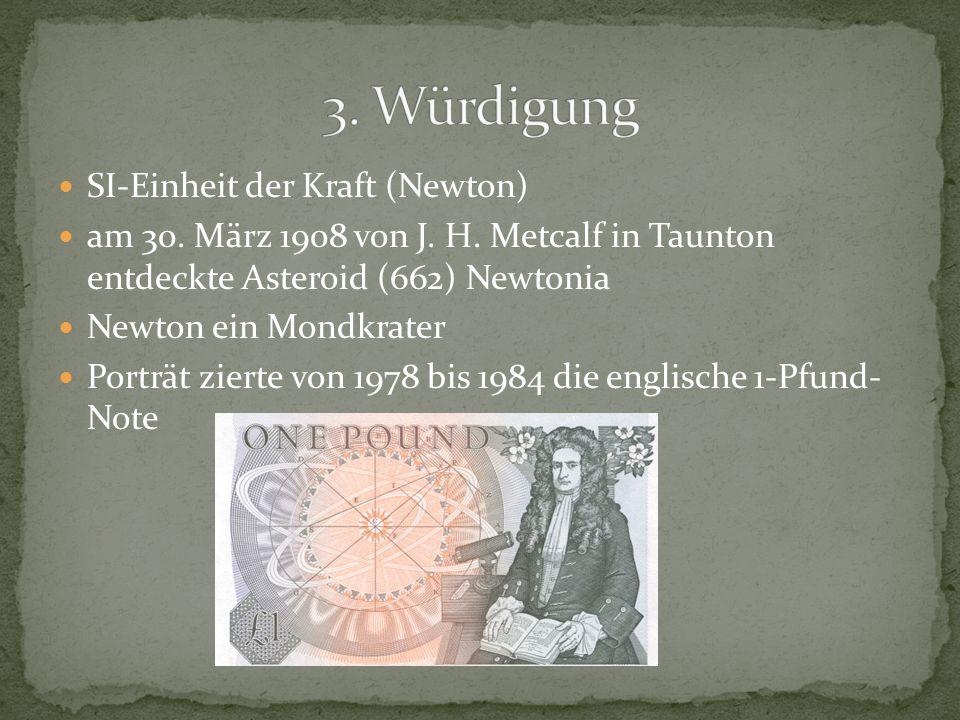 3. Würdigung SI-Einheit der Kraft (Newton)