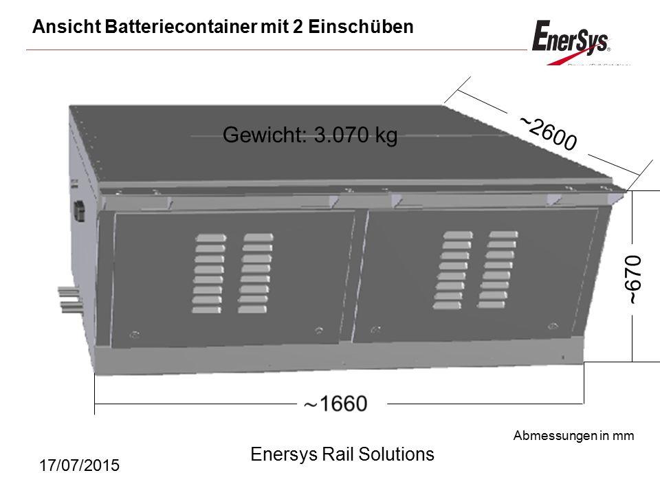 Ansicht Batteriecontainer mit 2 Einschüben