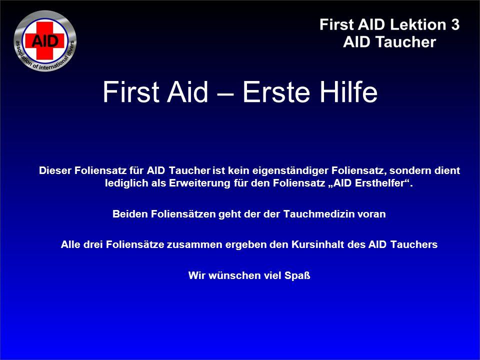 First Aid – Erste Hilfe