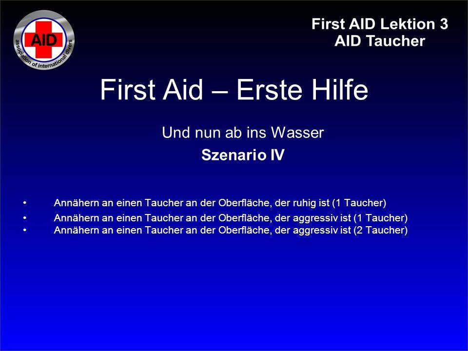 First Aid – Erste Hilfe Und nun ab ins Wasser Szenario IV
