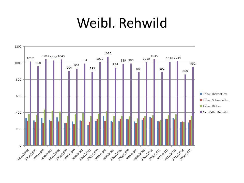 Weibl. Rehwild
