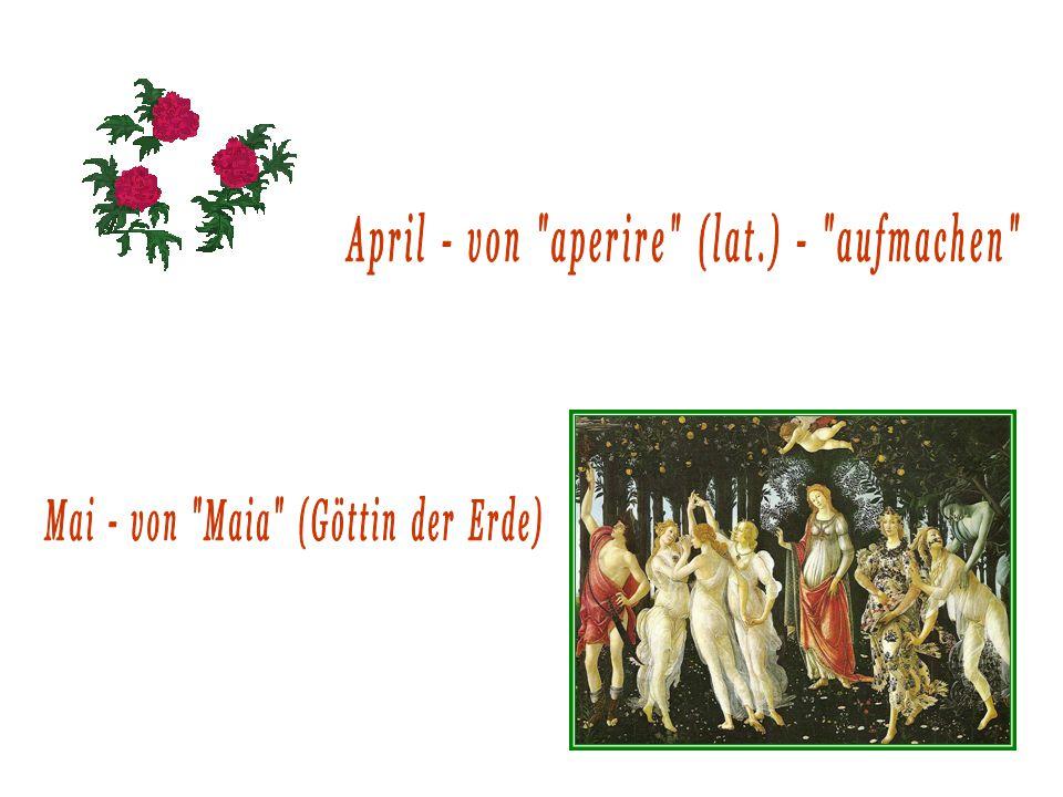 April - von aperire (lat.) - aufmachen