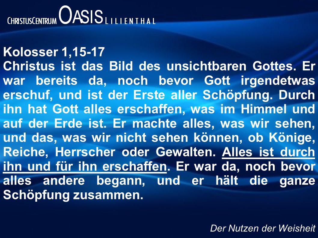 Kolosser 1,15-17