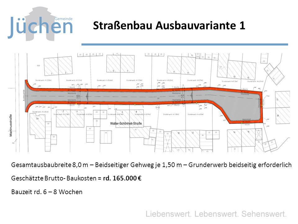 Straßenbau Ausbauvariante 1