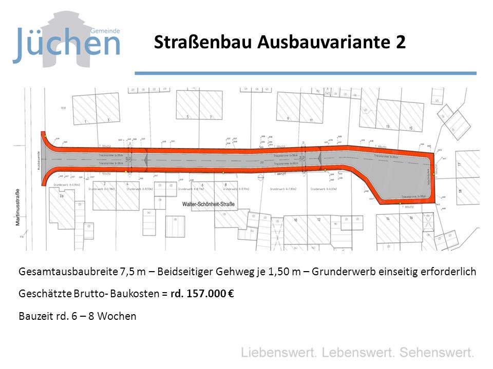 Straßenbau Ausbauvariante 2